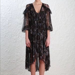 Like new Zimmermann silk ruffle dress